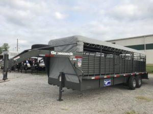 Gooseneck Cattle Tri 24x6ft8 7k tor. slide cut