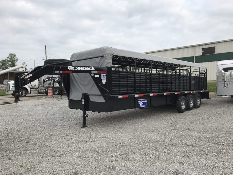 "Gooseneck Cattle Tri 28x6ft8"" 3-7k Tor. axle"