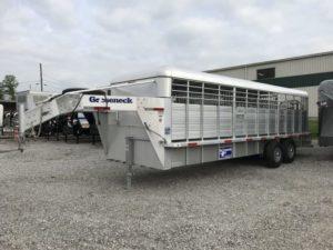 Gooseneck Cattle trailer 24x6ft8 7k tor. slide cut