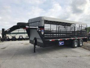 Gooseneck Cattle trailer 20x6ft8  7k Spring 1 cut
