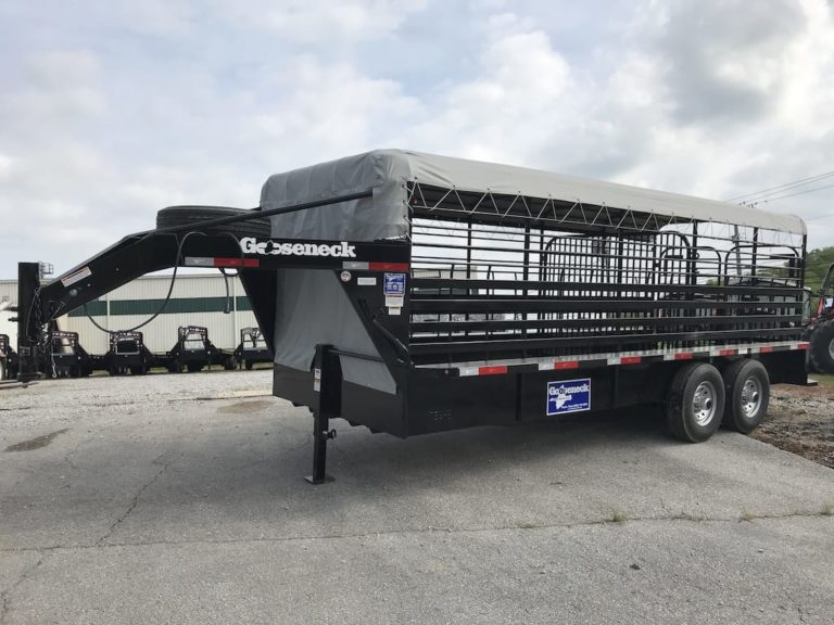Gooseneck Cattle trailer 20x6ft8  7k Spring 1 cut